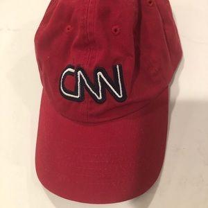CNN Red Baseball Cap TV Cable News Network Logo